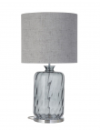 Ebb&Flow - Pillar lampefot, smokey grå dimples, Sølv base