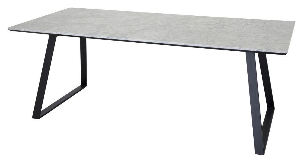 Estelle Spisebord, Hvit marmor, 90x200