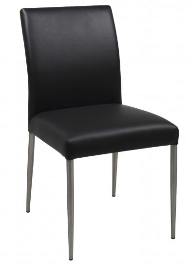 Hjo Spisebordsstol - Svart skinn