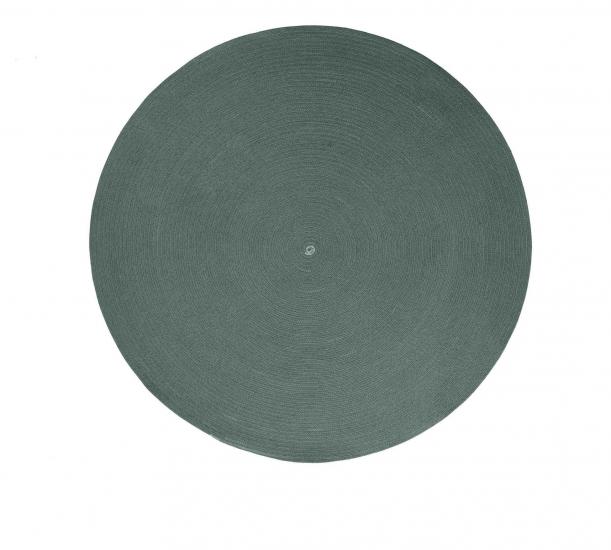 Cane-line Circle teppe, Ø140, Mørkegrønn, Cane-line Soft Rope