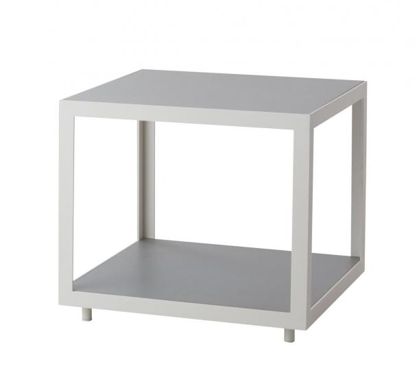 Cane-line - Level Sidebord Hvit, betong - 48x48