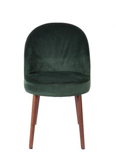 Dutchbone - Barbara Spisebordsstol - Grønn fløyel