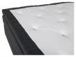 Rättvik 5-zoners Kontinentalseng Fast/Fast, Mørkegrå stoff, 180x200
