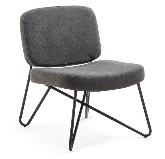 Kave Home Circuit Loungestol - Sort/Graphite