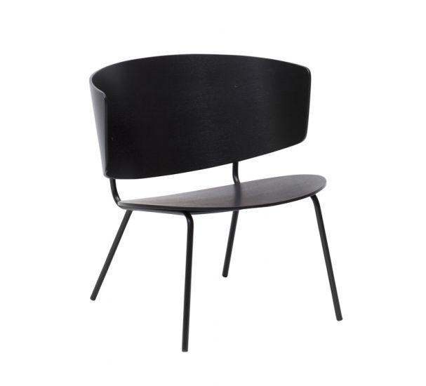 ferm LIVING - Herman Lounge Chair - Svart eikefinér