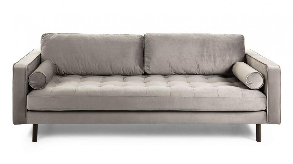 LaForma Bogart 3-seter Sofa - Grå Velur