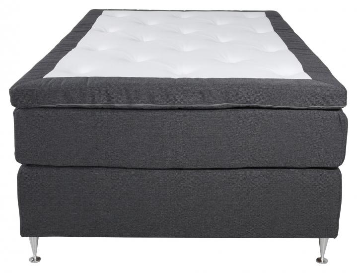 Furudal 7-zoner Kontinentalseng Medium, Mørkegrå stoff, 120x200
