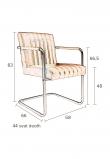 Dutchbone Stitched Spisebordstol - Blomme