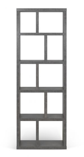 Temahome Berlin Reol - Mørk Betongrå, 198x70