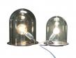 Ebb&Flow - Glow in a Dome, Sølv metalll base, Ø23