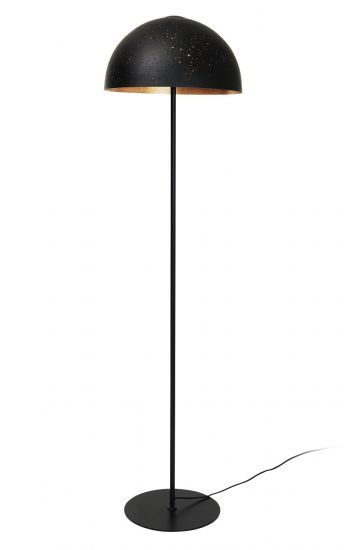 Lavas Gulvlampe - Sort/Messing