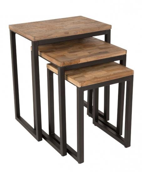 homii - Innskuddsbord m. svarte ben - Gjenbrukt tre