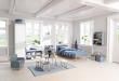 FLEXA Dots Benk m. oppbevaring - Lys Blå