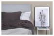 Alvik sengegavl, Lysegrå stoff, B:160