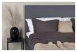 Alvik sengegavl, Mørkegrå velour, B:120