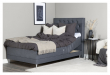 Furuvik sengegavl, Mørkegrå stoff, B:120