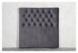 Furuvik sengegavl, Mørkegrå velour, B:120