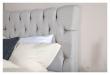 Särna sengegavl, Beige stoff, B:120