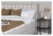 Särna sengegavl, Beige stoff, B:160