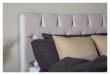 Särna sengegavl, Beige velour, B:120