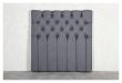 Särna sengegavl, Mørkegrå stoff, B:120