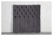 Särna sengegavl, Mørkegrå velour, B:120