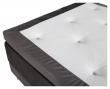 Vansbro 5-zoner Elevationsseng Fast, Mørkegrå velour, 120x200