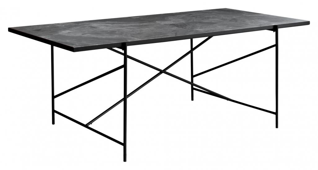 HANDVÄRK Spisebord 184x96 - Grå marmor