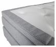 Rättvik 5-zoners Kontinentalseng Fast/Fast, Lysegrå stoff, 160x200