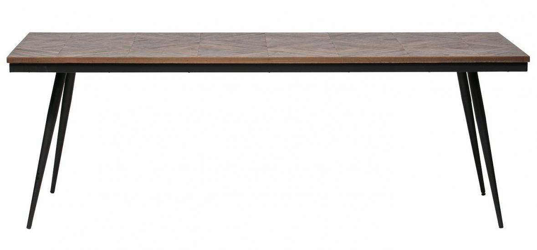 Rhombic Spisebord - Teak/Metal, 220x90
