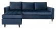 Firenze Sofa m, Flyttbar Sjeselong - Mørkeblå Velour