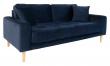 Lido 2,5-pers, Sofa - Mørkeblå Velour