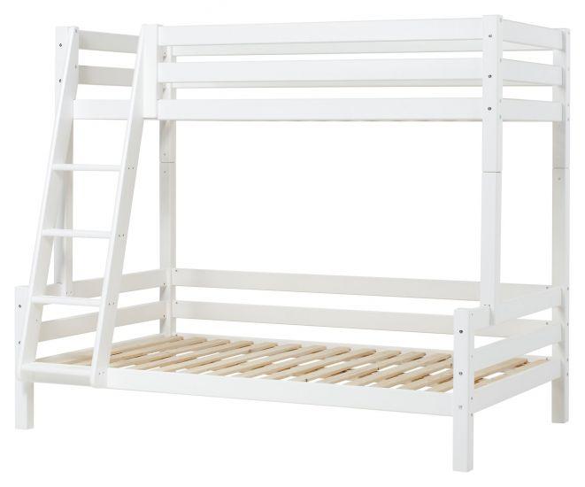 Hoppekids Premium Køyeseng, Hvit, 90/120x200