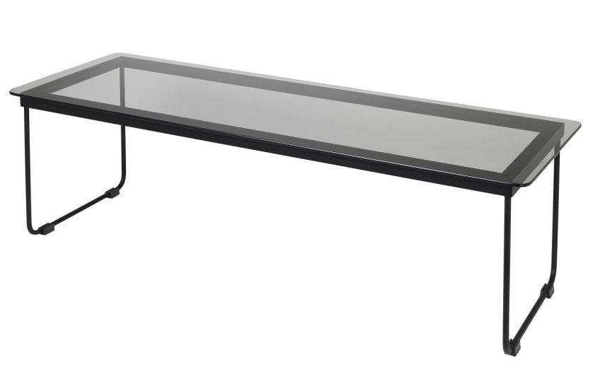 Hyben Sofabord - Sort Glas/Stål, 100x35