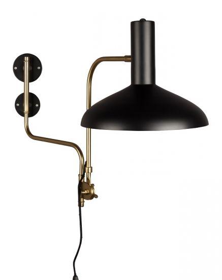 Dutchbone - Devi Vegglampe - Svart