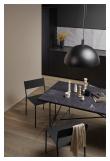 HANDVÄRK - Spisebord - Svart Marmor m/svart ramme - 96x184