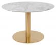 Bolzano Sofabord m, Topp i marmor-look - Messing ben, Ø70