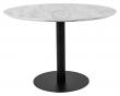 Bolzano Spisebord - Hvit Marmor-look/Sort, Ø110x75