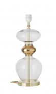 Ebb&Flow - Futura lampefot, Klar/Gull, Gull base