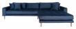 Lido Lounge Sofa m, høyrevendt sjeselong - Mørkeblåt Velour