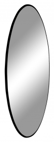 Jersey Speil m, Sort Ramme, Ø80