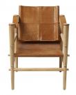 Cinas - Noble Safari stol - Brun læder