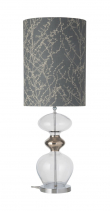 Ebb&Flow - Futura lampefot, Klar/platin, Sølv base