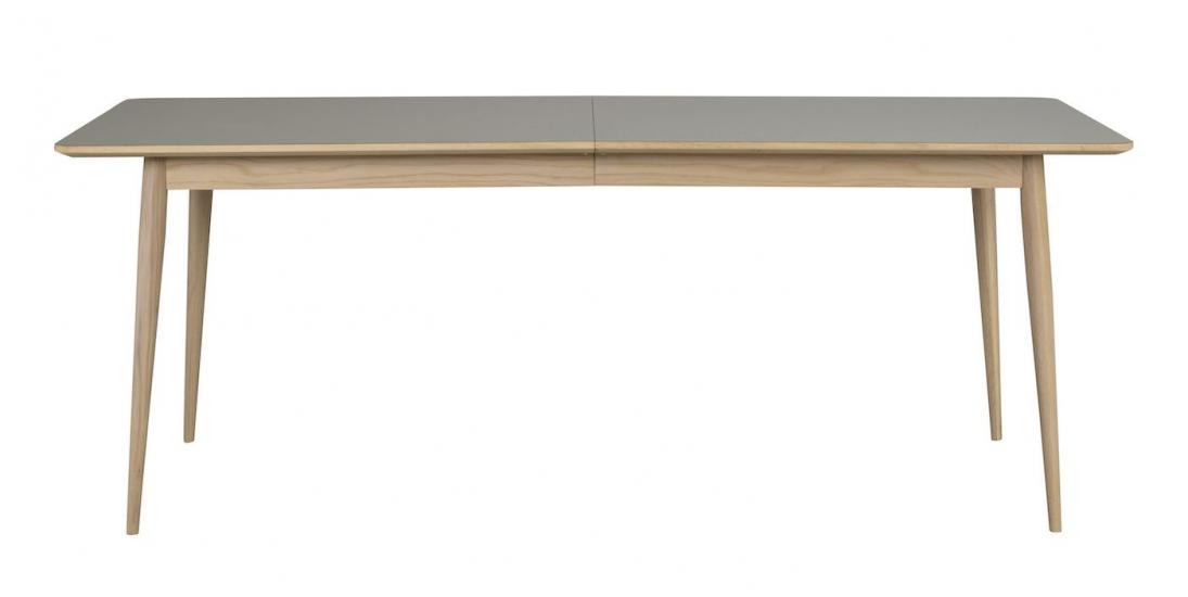Dawsone Spisebord, Grå høytrykkslaminat, 200/245x90