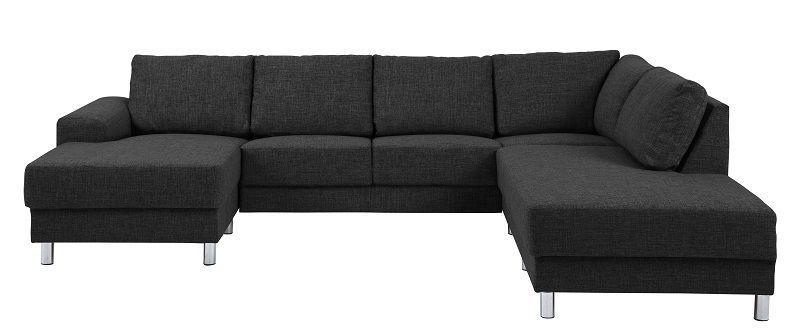 Johnston U-sofa - Antrasitt stoff - Høyre