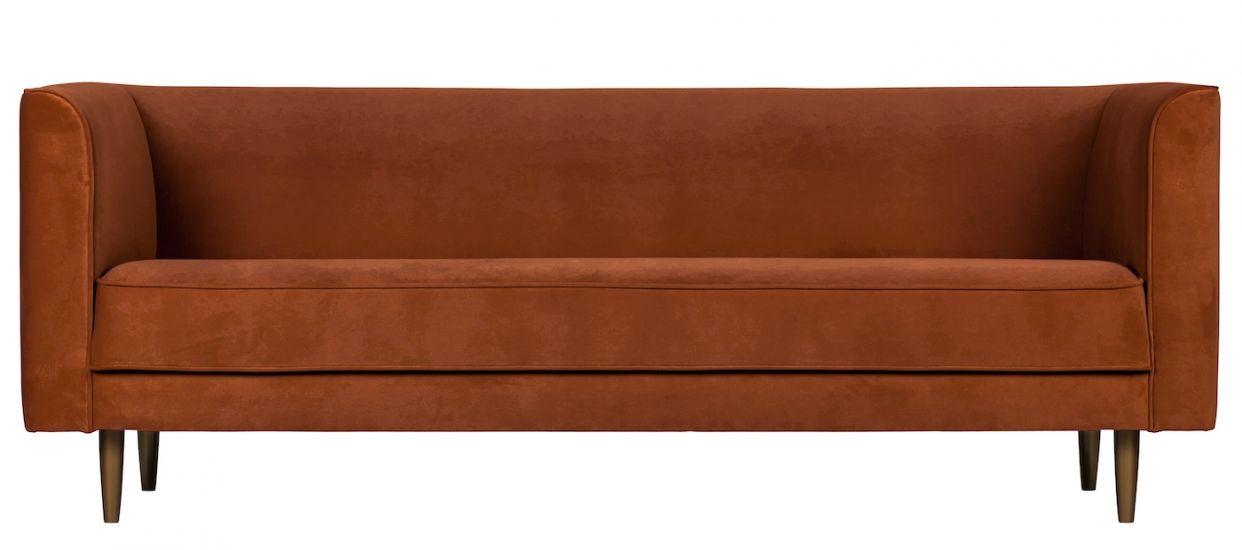 Studio 3-seter. Sofa - Rust Velur