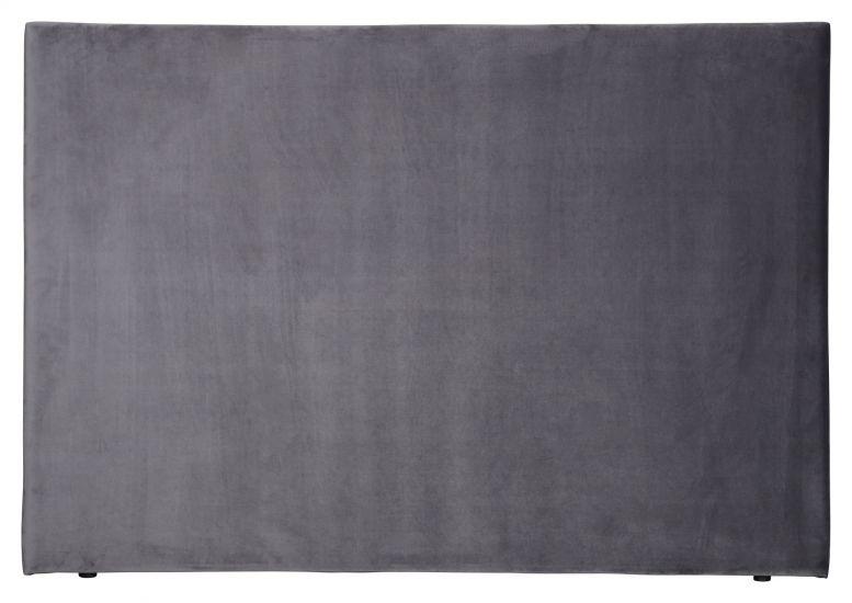 Alvik sengegavl, Mørkegrå velour, B:160