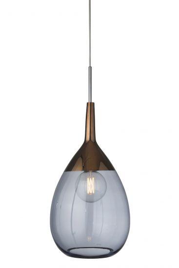 Ebb&Flow - XL Lute pendel, blue / copper