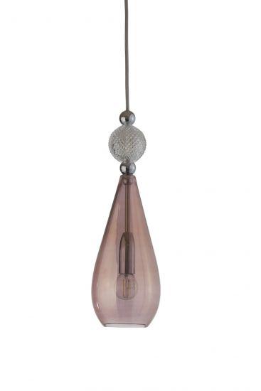 Ebb&Flow - Smykke pendel, obsidian m. Krystall ball, Sølv