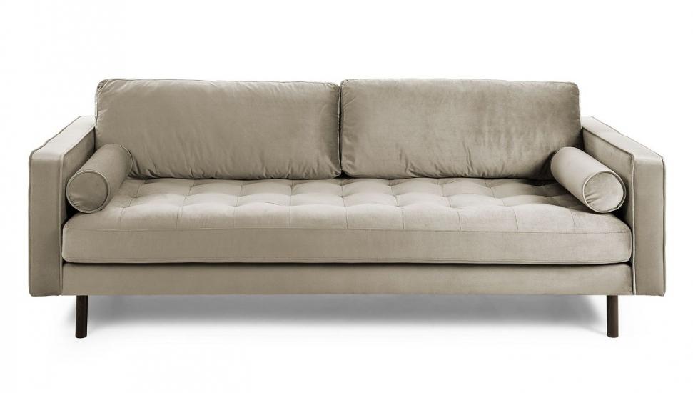 Kave Home Bogart 2-seter Sofa - Taupe Velur